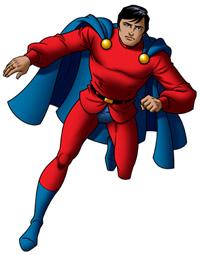 Mon-El in un disegno di Bill 9000 (da http://wiki.superman.nu/)