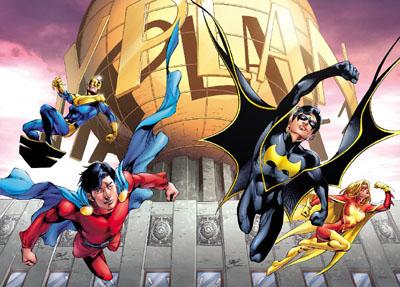 Copertina doppia originalmente prevista per Superman #686 e Action Comics #875. Disegno di Eddy Barrows