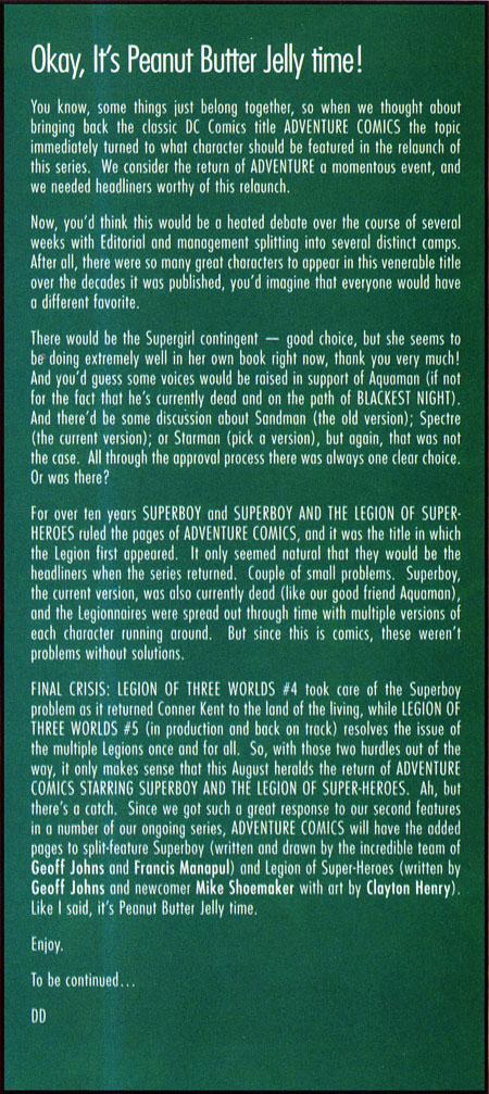 Testo della rubrica DC Nation del 13-05-09
