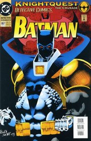 Il Cavaliere Oscuro abdica per la prima volta il suo ruolo di vigilante. Copertina di Detective Comics #667 (1993)