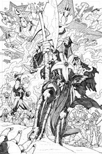 """Starro in un'immagine da """"R.E.B.E.L.S."""" (vol.II) #5, disegni di C. St. Aubin. Clicca sull'immagine per ingrandirla"""