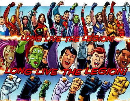 "Immagine da ""Final Crisis: Legion of 3 Worlds"" #5, disegni di George Pérez e Scott Koblish"