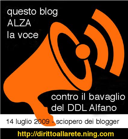 Questo blog alza la voce contro il bavaglio del DDL Alfano!