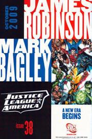 """Lo spot originale della JLA di Robinson e Bagley, tratto da """"Blackest Night"""" #3"""