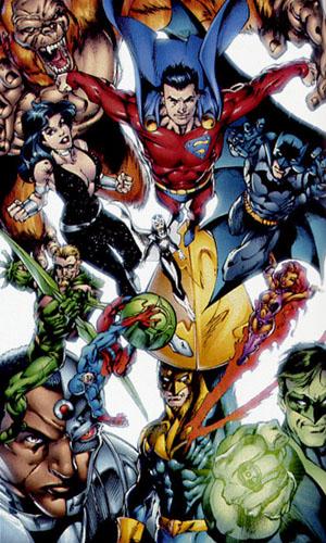 Il primo ritratto ufficiale della nuova Justice League di James Robinson. Disegni di Mark Bagley