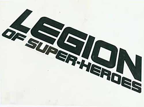 """Il disegno originale di Todd Klein per il logo di """"Legion of Super-Heroes"""" (vol.III), 1984"""