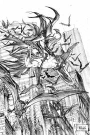 Un'immagine di Batman realizzata da Pier Gallo