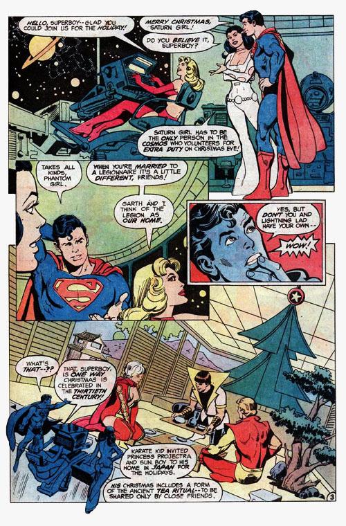 """Superboy e le festività natalizie nel 31esimo secolo. Da """"DC Special Series"""" #21"""