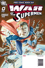 Prima bozza per la cover di War of the Supermen #0