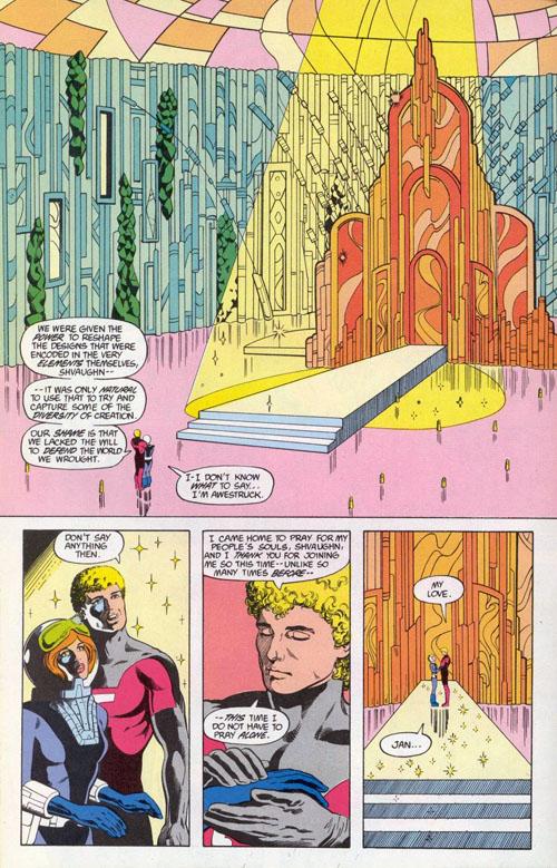 "Una tavola di Colleen Doran da ""Legion of Super-Heroes"" (vol.III) #27 (1986)"
