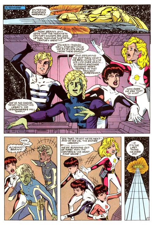 """Una tavola di Colleen Doran da """"Valor"""" #19 (1994)"""