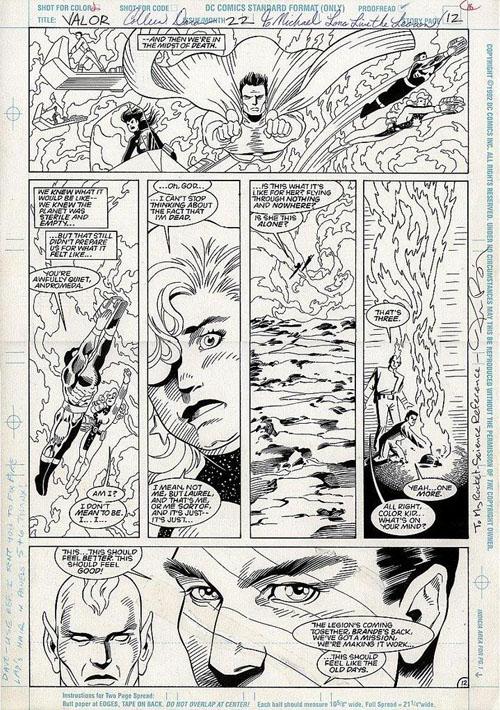 """Una tavola di Colleen Doran da """"Valor"""" #22 (1994)"""
