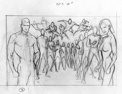 La Legione post-Ora Zero vista da Kevin Nowlan: Fase 2 (di 5)