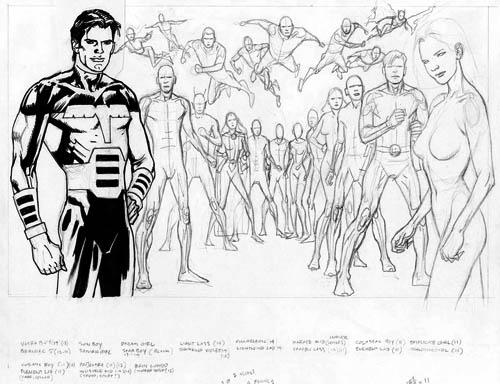 La Legione post-Ora Zero vista da Kevin Nowlan: Fase 3 (di 5)