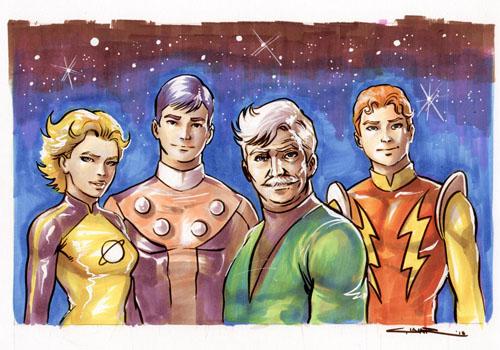 Ritratto dei fondatori della Legione, visti da Yildiray Cinar