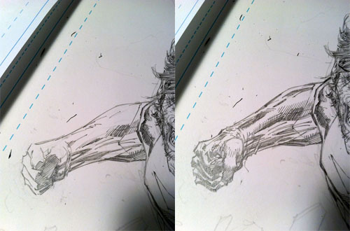 Studi della figura di Timber Wolf, di Jim Lee