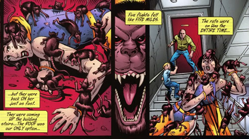 "Sequenza da ""Countdown to Final Crisis"" #5 (47), disegni di K. Giffen e J. Starlin (2008)"