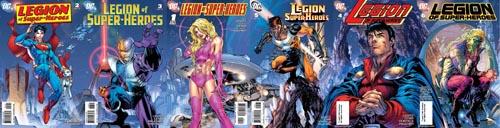 Collage delle variant cover legionarie disegnate da Jim Lee (clicca per ingrandire)