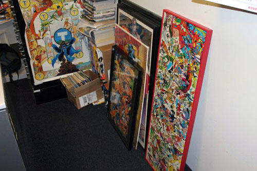 Un'immagine degli uffici DC Comics a New York, tratta da Facebook