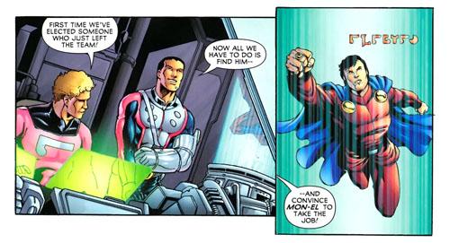 """Sequenza da """"Legion of Super-Heroes"""" (vol.VI) #8, disegni di Daniel HDR"""