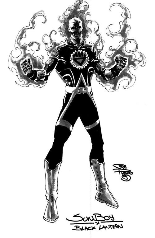 Studio di Black Lantern Sun Boy, di Joe Prado (clicca sull'immagine per ingrandirla)