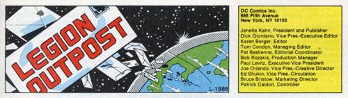 Immagine da Legion of Super-Heroes (vol. III) #13 (Agosto 1985)
