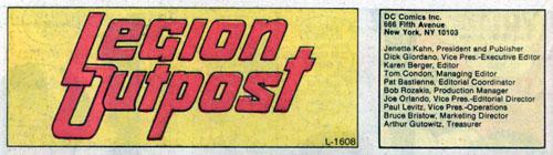 Immagine da Tales of the Legion of Super-Heroes #314 (Agosto 1984)