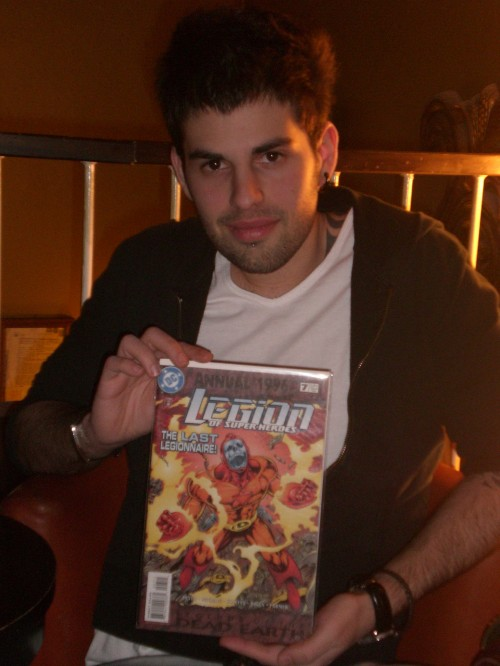 Fabio e la copertina che lo ha ispirato