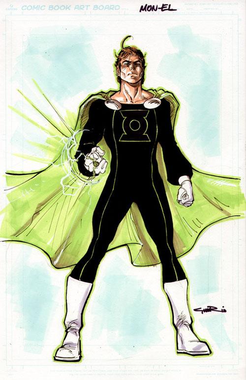 Design di Yildiray Cinar per la neo Lanterna Verde Mon-El