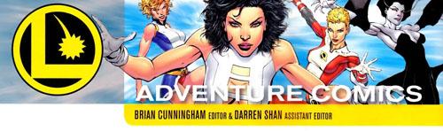 """Logo della pagina della posta di """"Adventure Comics"""""""