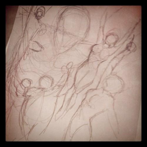Work in progress per un'illustrazione legionaria di Daniel HDR: fase 1