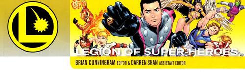 """Logo della pagina della posta di """"Legion of Super-Heroes"""" (vol.VI)"""