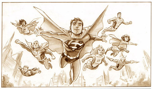 "Work-in-Progress di F. Manapul per ""Adventure Comics"" (vol.III) #1, 2009: mezzi toni"