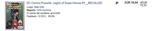 """La 1a edizione di """"DC Comics presents: Legion of Super-Heroes"""" ha raggiunto prezzi folli su eBay"""