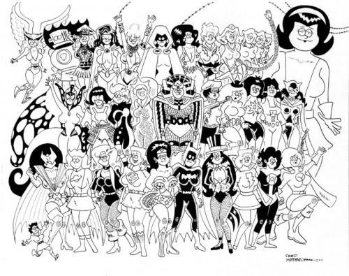 Le donne del DC Universe, di Fred Hembeck (Clicca per Ingrandire)