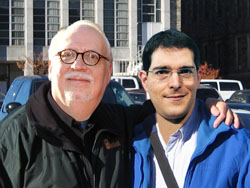 Daniele Capezzone del PDL (a destra) e il suo pupillo J.M. Straczynski (a sinistra)