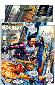 "Page from ""DCU Holiday Special 2010"", art by Chris Batista and Rich Perrotta"