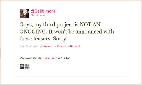 Tweet di Gail Simone del 9/6/2011