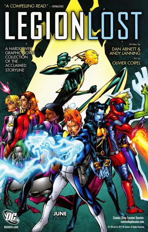 """La pubblicità di """"Legion Lost"""" apparsa negli albi DC dell'8 giugno 2011"""