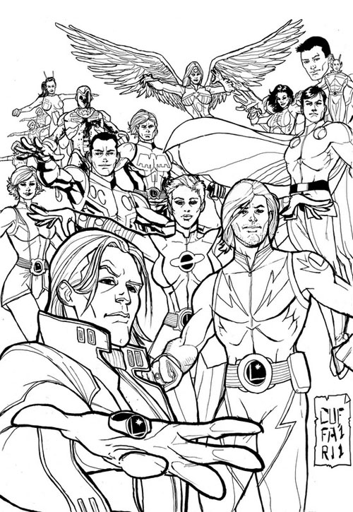 La Legione dei Super-Eroi vista da Salvo Cuffari