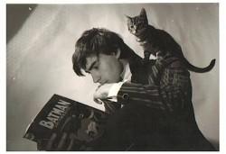 Un'immagine giovanile di Grant Morrison