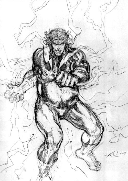 Sumo Lightning Lad, di Ian Dorian