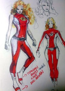 Possibile design per Saturn Girl, di Yildiray Cinar