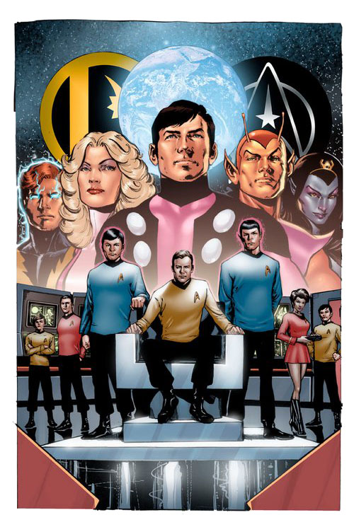 "Regular cover di Phil Jimenez per ""Star Trek/Legion of Super-Heroes"" #1"