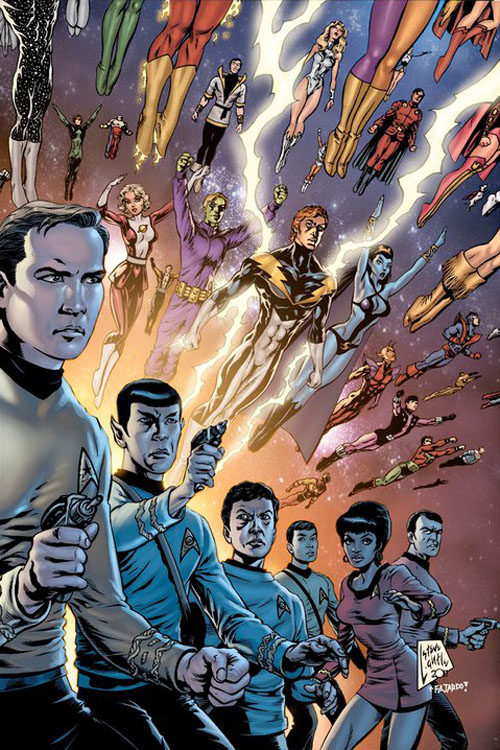 "Variant cover di Steve Lightle per ""Star Trek/Legion of Super-Heroes"""
