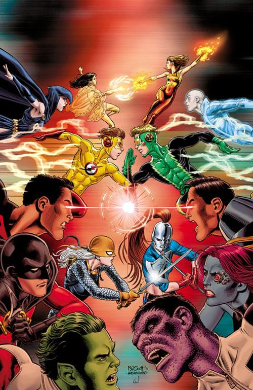 Teen Titans (vol.III) #99, disegni di Nicola Scott e Doug Hazlewood