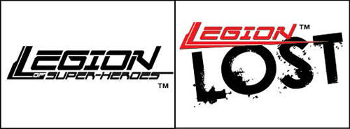 "I loghi del ""volume seven"" e di ""Legion Lost"" (vol.II)"