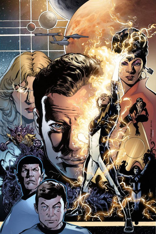 "Copertina di Phil Jimenez per ""Star Trek/Legion of Super-Heroes"" #2"