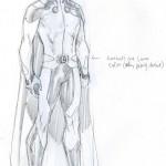 Studio di Jim Lee per il nuovo costume di Mon-El
