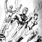 "Teaser della variant cover di Steve Lightle per ""Star Trek / Legion of Super-Heroes"""